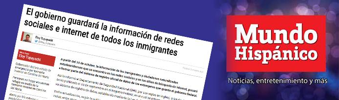 El gobierno guardará la información de redes sociales e internet de todos los inmigrantes ----